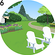 Step 6: Enjoy a midge free outdoor space!